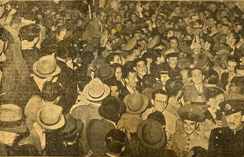 Recepção a Leônidas, 1942