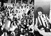 A torcida são-paulina no Aeroporto de Congonhas, antes de se dirigirem para Viracopos, em 1978, e com o ídolo Darío Pereyra, em 1977