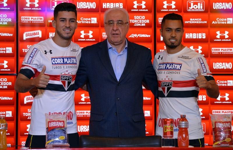 São Paulo: Marcinho e Morato são apresentados e vestem a camisa