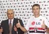 Presidente Marcelo Portugal Gouvêa e Diego Lugano