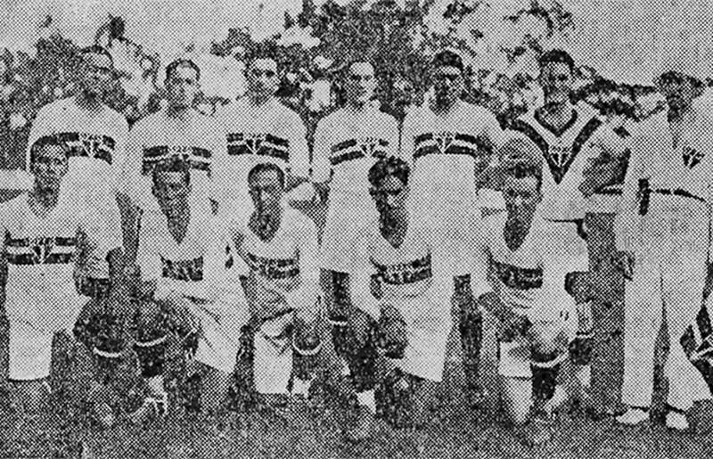O time do São Paulo no 1º jogo da história do clube