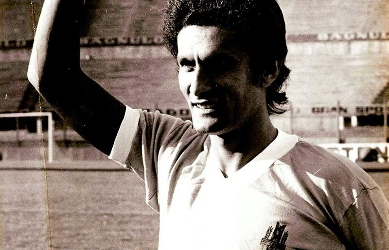 Pedro Rocha com a camisa da Celeste. Em 1974, pela primeira vez o Tricolor contou com jogadores em outra seleção que não a brasileira
